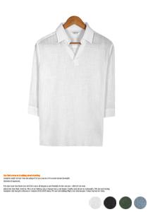 COOL 린넨 7부 셔츠